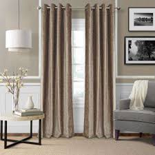 Picture Window Drapes Taupe Window Treatments The Home Depot