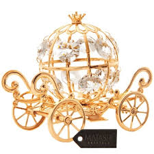 pumpkin carriage goldplated mini cinderella inspired pumpkin coach made with