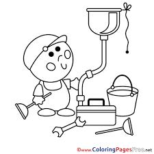 plumber kids free coloring