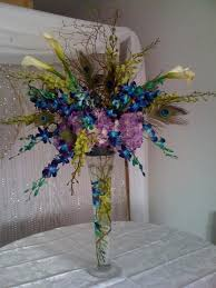 Peacock Feather Centerpieces by Peacock Flower Arrangements Google Search 40th Ideas