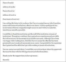 resignation letter format best design nursing resignation letter