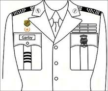class a asu dress blues topper rotc