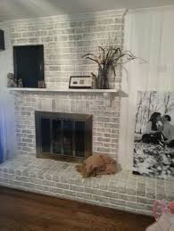 White Washed Stone Fireplace Life by Grey Paint Wash On A Brick Fireplace Before U0026 After Bricks