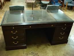 Office Desk Leather Top Mahogany Leather Top Desk Office Furnishings