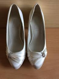 ivory satin wedding shoes memory foam ivory satin bridal wedding shoes size 3 for sale in