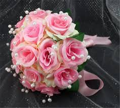 cheap wedding flowers simple cheap pink color fleurs bouquet mariage ramo de la boda