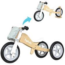 childrens motocross bikes hip kids 2 in 1 silver wooden tricycle balance bike children