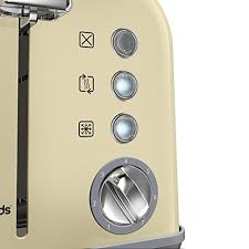Morphy Richards Toaster Cream Electric Toaster Small Kitchen Brown Sliced Bread Toast Maker W