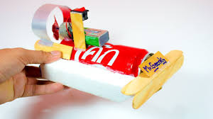how to make a toy boat mini for kids coca cola can rc boats