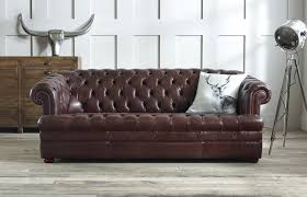 sofa phenomenal brown leather chesterfield sofa second hand
