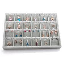 earring necklace jewelry display images Velvet necklace pendant chain earrings jewelry display rack holder jpg