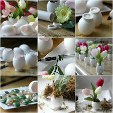 Easy To Make Easter Table Decorations by 20 Ideas To Recycle Egg Shells And Create Floral Table