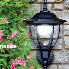 solar light led garden porch lights motion sensor wall lamp 4leds
