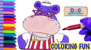 doc mcstuffins nurse hallie coloring page fun coloring activity