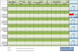 excel timesheet monthly for a year business