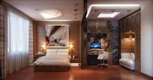 Modern Computer Desk Bedroom Alluring Home Office Decor In Bedroom Textured Wood