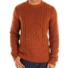 chunky cable knit jumper mens crochet and knit
