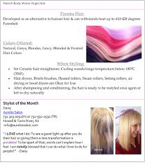 Pure Virgin Hair Extensions by Daisy Named Stylist Of The Month By Perfectress Aurelio Salon U0026 Spa