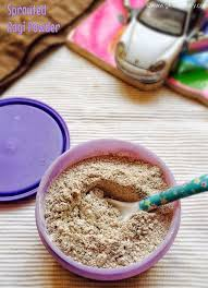 sprouted ragi powder for babies how to make sprouted ragi flour