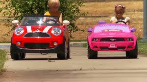 toddler mustang car ride on car race mini cooper vs disney mustang