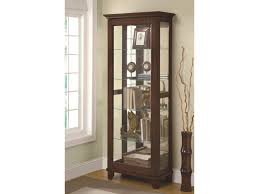 value city furniture curio cabinets coaster curio cabinets 5 shelf curio cabinet with mirrored back
