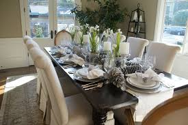 dining table decorations dining room dining room with winter table decorations and wood