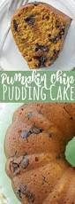 pumpkin chocolate chip pudding cake foodtastic mom