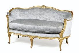 canape louis 15 canapé corbeille en bois sculpté et doré d époque louis xv