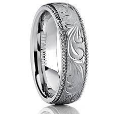 comfort fit titanium mens wedding bands men s women s engraved vintage titanium wedding band unisex