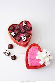 valentines heart candy s heart candy box cake