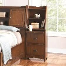 Nightstand With Shelf Grendel Collection 2 Drawer Stand With Pull Out Shelf And
