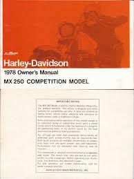 harley davidson mx250 owners manual 1978 carburetor clutch