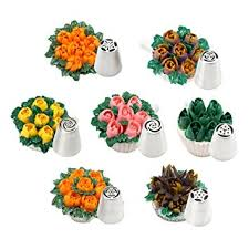 flower decorating tips amazon com tangchu russia icing piping nozzles pastry tips cake