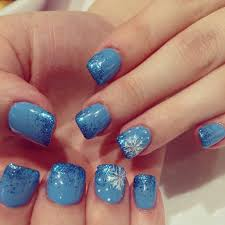nails cute nail design acrylic with gel color and glitter