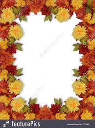 illustration of thanksgiving fall leaves and flowers border