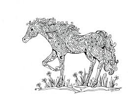 free carousel horse coloring pages printable horses abstract