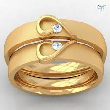 golden couple rings images Couple wedding rings gold wedding promise diamond engagement jpg