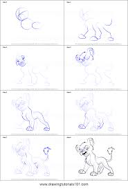 draw vitani lion king 2 simba u0027s pride printable