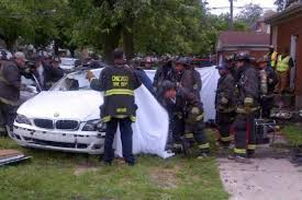 man dies after car crashes into chatham home chatham chicago