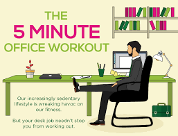 Office Desk Exercise 5 Minute Exercise At Work