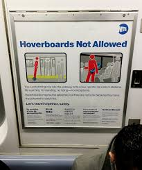 lexus hoverboard for sale ebay poster explaining the new york city subway hoverboard ban cyberpunk