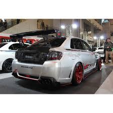 subaru sti 2011 hatchback subarus imprezza wrx sti varis rear diffuser carbon bulletproof