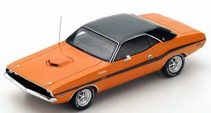 dodge challenger 1970 orange 1970 dodge challenger r t 426 hemi orange by spark resin model