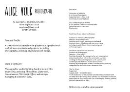 cover letter junior photographer resume junior photography resume
