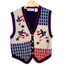 Independence Flag Patriotic Stars Usa Flag Independence Day Ugly Sweater Vest The