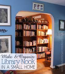 make a library nook in a small home u0026 organize it