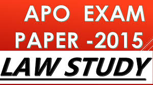 up apo exam paper 2015 solve youtube