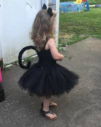 Black Cat Halloween Costume Kids Black Cat Tail Ears Toddler Sized Chachatutu Etsy Baby