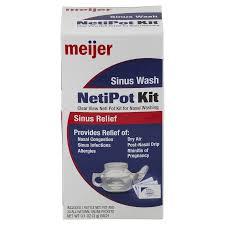 meijer sinus wash netipot kit meijer com