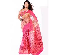 bangladeshi jamdani saree collection trendy design tangail muslin jamdani saree jl797 priyoshop